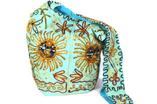 Load image into Gallery viewer, Turquoise Happy Sunset Jhola Bag | Wild Lotus