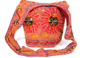 Red Happy Sun Jhola Bag