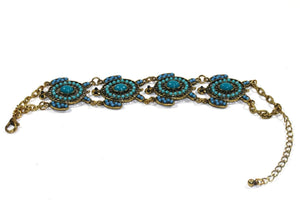 Turquoise Colorful Bead Drop Turtle Bracelet