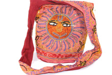 Load image into Gallery viewer, Red Happy Sun Jhola Bag
