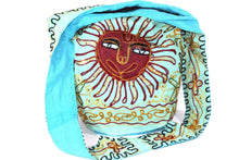 Load image into Gallery viewer, Turquoise Happy Sunset Jhola Bag