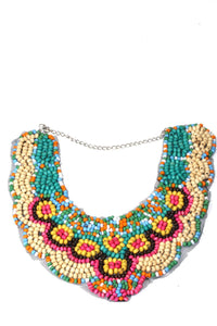 Multi Color Southwest Classic Colors Bib Style Necklace