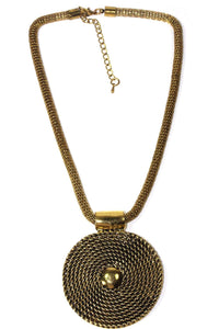 Rope Medallion Necklace