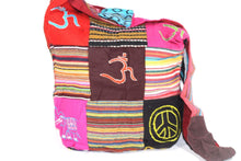 Load image into Gallery viewer, Mixed Symbols Durrie Patchwork & Pop Art Sling Jhola Bag