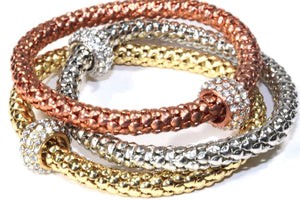 Charm & Rope Bangle Set