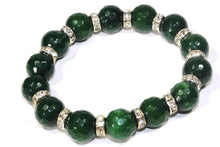 Load image into Gallery viewer, Green Agate & Pave Charms Yoga Bracelet