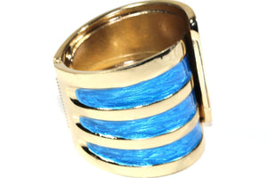 Aqua Twinkling Enamel Hinged Bangle
