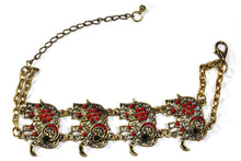 Load image into Gallery viewer, Red Colorful Bead Drop Elephant Bracelet