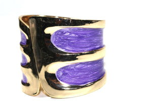 Purple Twinkling Enamel Hinged Bangle
