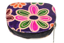 Load image into Gallery viewer, Purple Groovy Flower Coin Purse
