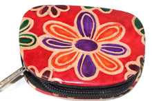 Load image into Gallery viewer, Orange Groovy Flower Coin Purse