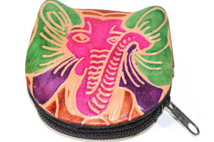 Festival Elephant Leather Coin Purse