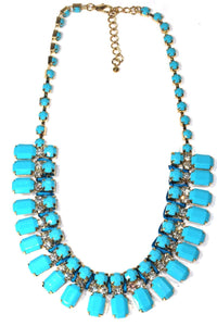 Turquoise Galore Statement Necklace