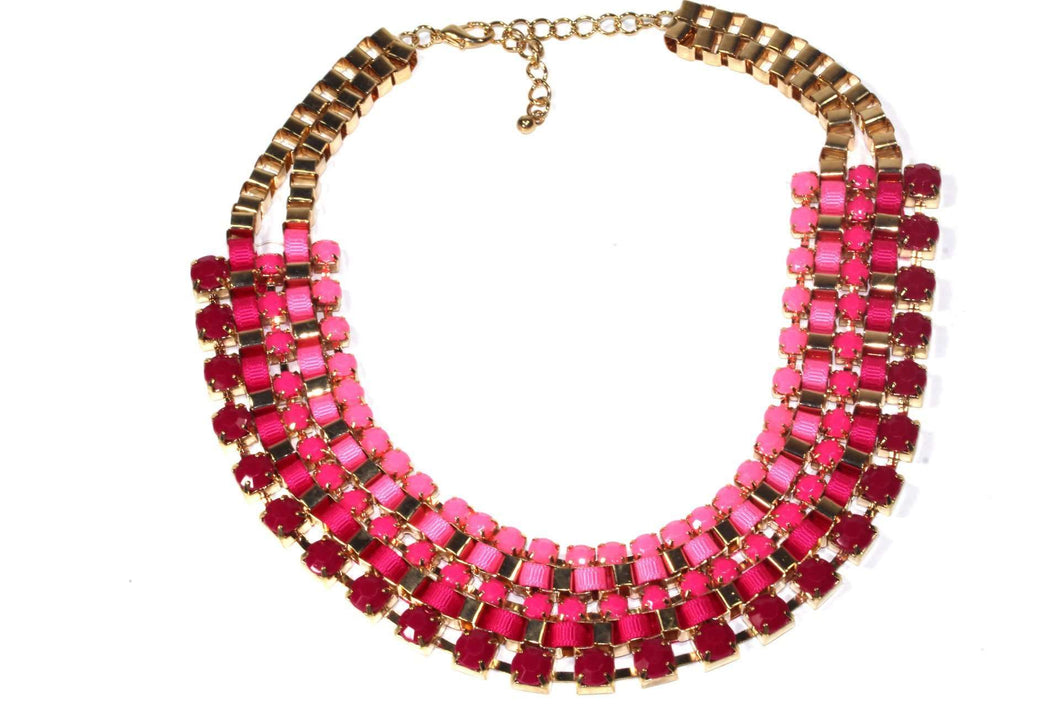 Pink Royalty Statement Necklace