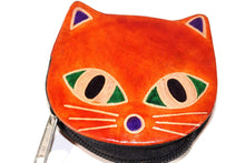 Load image into Gallery viewer, Orange Kitty Boo Coin Purse