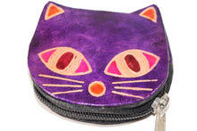 Load image into Gallery viewer, Purple Kitty Boo Coin Purse