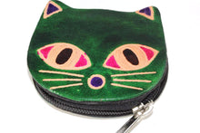 Load image into Gallery viewer, Green Kitty Boo Coin Purse