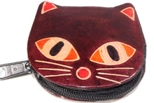 Load image into Gallery viewer, Maroon Kitty Boo Coin Purse