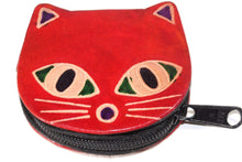 Load image into Gallery viewer, Red Kitty Boo Coin Purse