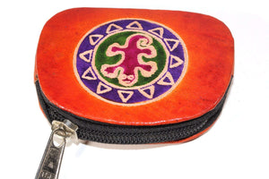 Orange Tribal Salamander Coin Purse