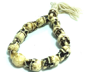 Bone White Tribal Skull Bracelet