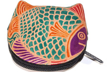 Load image into Gallery viewer, Colorful Fishies Coin Leather Purse