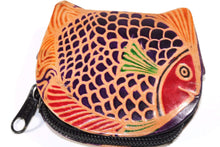 Load image into Gallery viewer, Colorful Fishies Coin Leather Purse by Wild Lotus