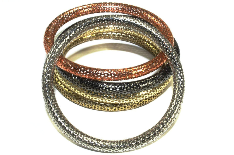 Multi Metallic Bangles Stack
