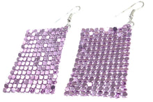 Load image into Gallery viewer, Light Purple Shimmer Mesh Earrings