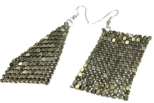 Load image into Gallery viewer, Forest Green Shimmer Mesh Earrings