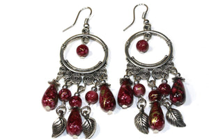 Rich Maroon Flow Or Flair Versatile Dangler Earrings