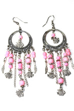 Load image into Gallery viewer, Light Pink Fish Charms Chandelier Bead Earrings