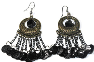 Black Carnival Gypsy Earrings