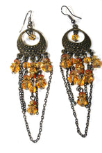 Load image into Gallery viewer, Amber Gypsy Style Chandelier Earrings