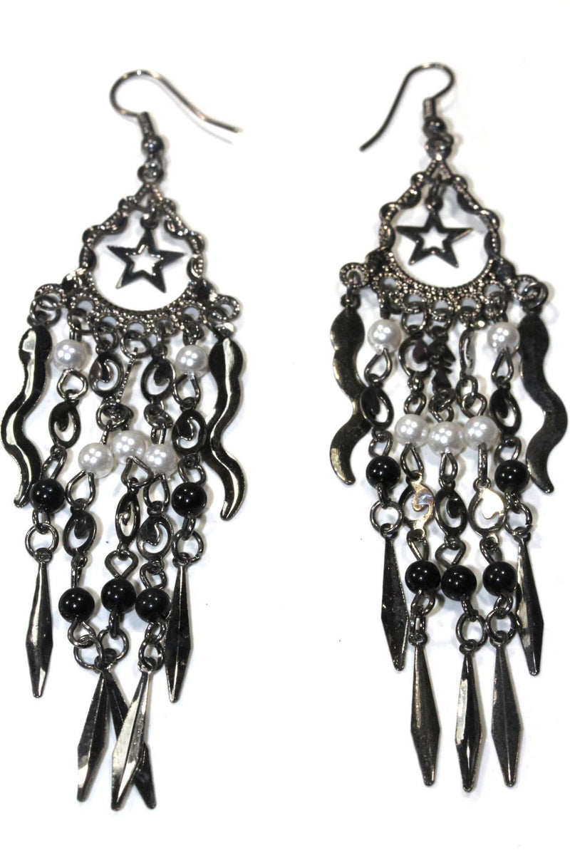 Whimsical Star Chandelier Earrings