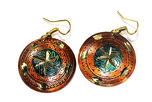 Load image into Gallery viewer, Earthy Brown Metallic Cosmic Star Earrings
