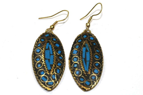 Caribbean Turquoise Third Eye Mosaic Earrings