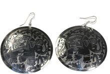 Load image into Gallery viewer, Silver Tone Traveling Elephant Earrings