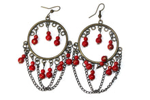 Load image into Gallery viewer, Red Wild Child Earrings