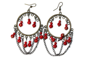 Red Wild Child Earrings