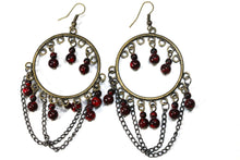 Load image into Gallery viewer, Deep Cherry Wild Child Earrings