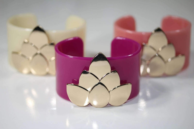 Lotus Flower Cuff Bangles by Wild Lotus