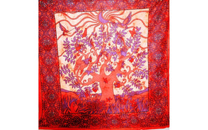 Red Crescent Moon Garden Art Decorative Border Wall Tapestry | Wild Lotus® | @wildlotusbrand