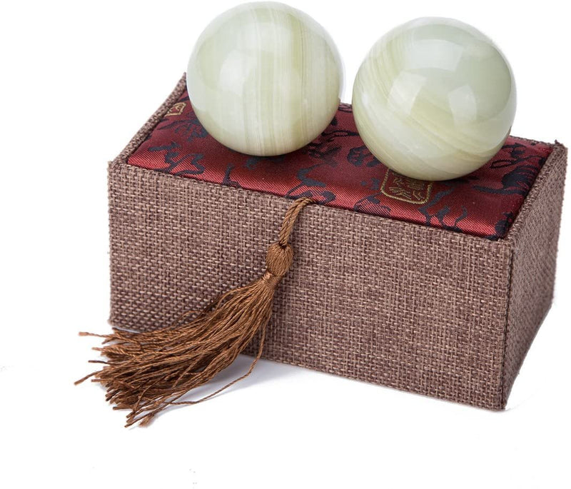 Afghan Jade Chinese Baoding Balls Small Home Decor Accents for Shelf | Wild Lotus® | @wildlotusbrand