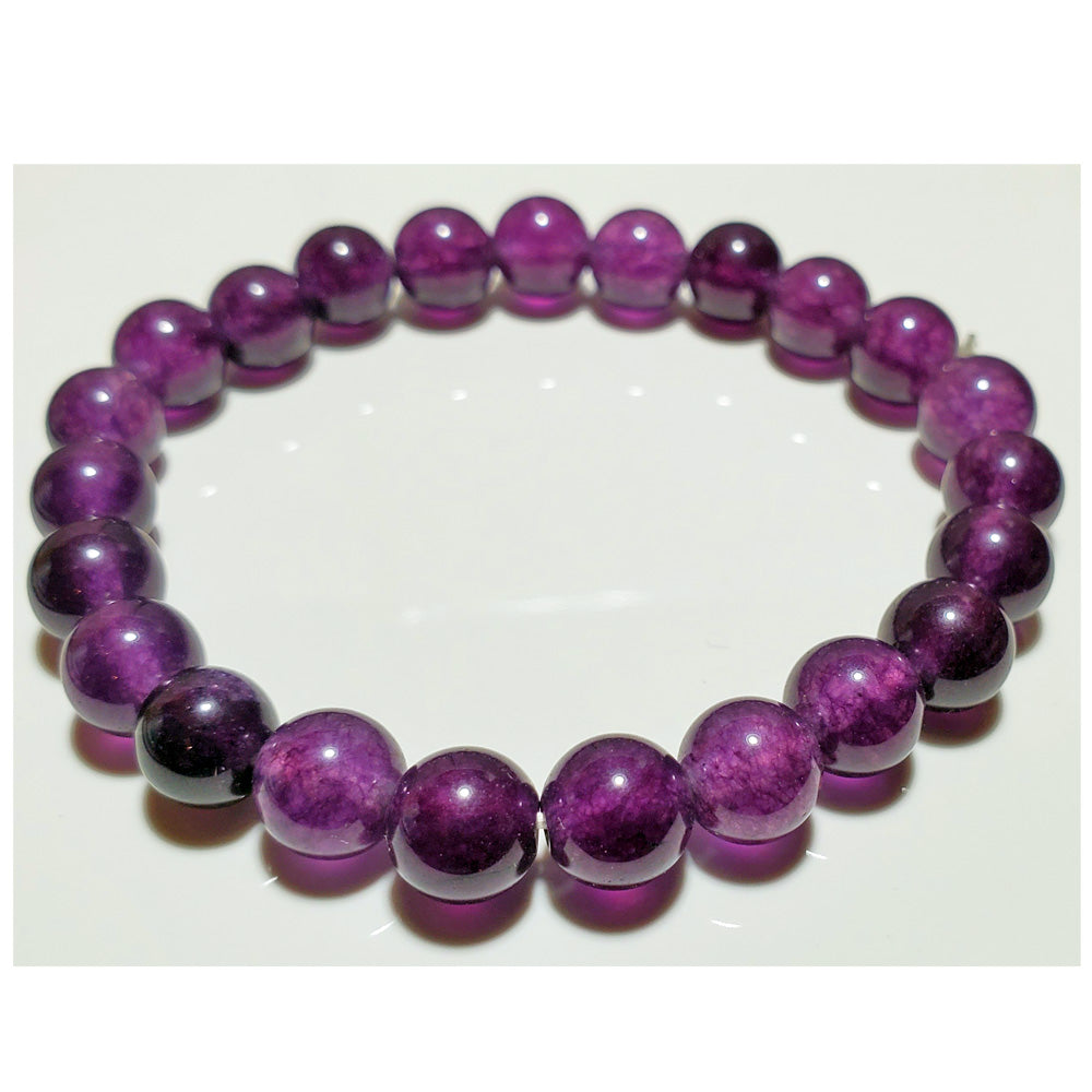 8mm Amethyst Bead Elastic Stretch Bracelet  | Wild Lotus® | @wildlotusbrand