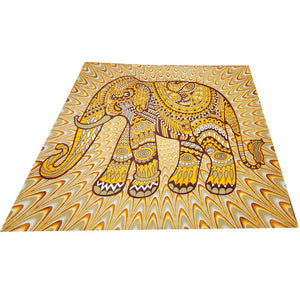 Orange Festival Boho Jeweled Elephant Home Decor Tapestry | @wildlotusbrand | Wild Lotus®
