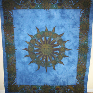Blue Sun Chakra & Sun Signs Tapestry