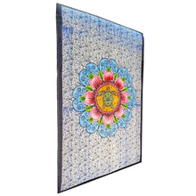 Load image into Gallery viewer, Blue Blooming Floral Design Turtle Tapestry Bohemian Wall Hanging Bedspread | Wild Lotus® | @wildlotusbrand