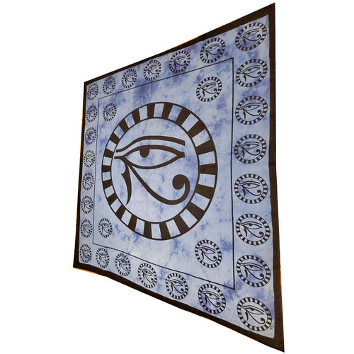 Blue Left Eye of Horus Symbol Cotton Tapestry Wall Hanging | Wild Lotus® | @wildlotusbrand
