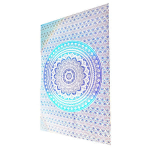Blue Ombre Art Pattern Cotton Tapestry Wall Hanging | Wild Lotus® | @wildlotusbrand
